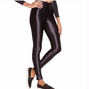 American Apparel Black High Waisted Disco Pants
